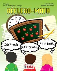 Réflexo-Math, 1er cycle du primaire, 1re et 2e années, corrigé en format PDF