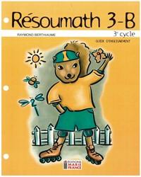 Résoumath 3B, 6e année, guide d'enseignement et corrigé en format PDF