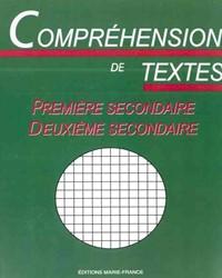 Compréhension de textes, cahier de l'élève