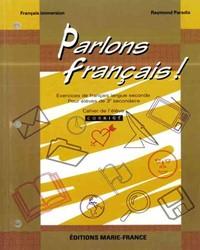 Parlons français, 3e secondaire, corrigé