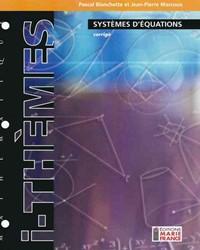 Systèmes d'équations 426-436, corrigé
