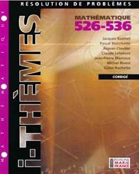 Résolution de problèmes 526-536 (Mauve), corrigé