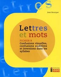 Lettres et mots B, fichier reproductible complet