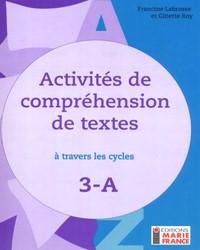 Activités de compréhension de textes à travers les cycles 3A, 3e année, fichier de l'élève reproductible